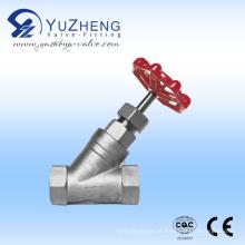 Válvula de globo em aço inoxidável Y-Type 304/316