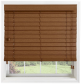 Brown Faux Wood Grain Venetian Blinds