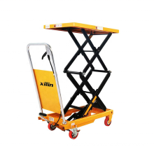 Xilin 350kg 770lbs Portable Manual Hydraulic Double Scissor lift Table