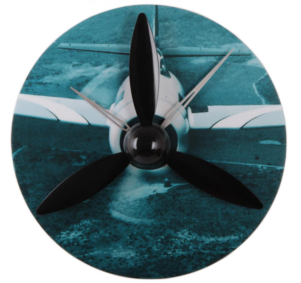 Propeller Aircraft Gear Reloj de pared