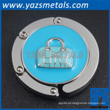 Ligero corazón azul mini titular de la bolsa de señora bolsa de bloqueo gancho titular bolsa de suspensión