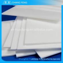 Hoja plástico de alta temperatura alto rendimiento teflon ptfe