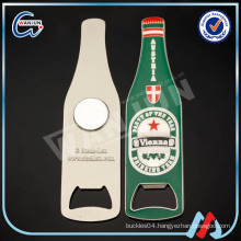 Cool beer bottle shape custom printint sticker fridge magnet bottle opener