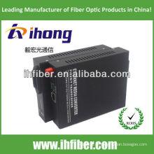 10 / 100M Fibra óptica Media Converter singlemode única fibra FC porto 20 km