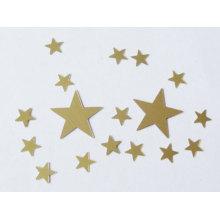 Golden star glitter confetti