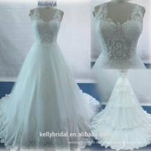 Hochzeitskleid 2017 Specail Qualitäts-Hochzeits-Kleid-Bügel Applique-Hochzeits-Kleid-Brautkleid