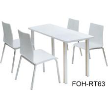 Diseño contemporáneo Mesa de comida rápida y muebles de la silla