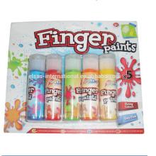 pintura de dedos de niños acuarela