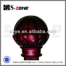 Hot sale plastic curtain rod finials in red color