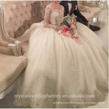Vestido de Noiva 2017 Romantic Robe De Mariage vestido de Noiva Sheer Backles Long Sleeve Lace Bride Wedding Dresses MW2206