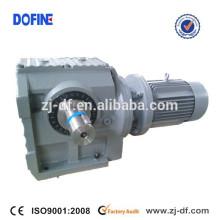 Réducteur à engrenage à vis sinue hélicoïdal S47 réducteur avec motoréducteurs à arbre plein