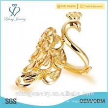 Atacado preço feito à mão 18k chapeamento anel de ouro