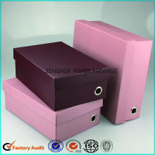 Flat Pack Corrugated Shoe Box Paper Packaging