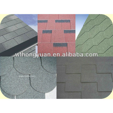 5 Shapes Hongyuan Brand Asphalt Roof Shingles