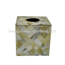 high end OX horn square Table Napkin Holder for hotel room decoration
