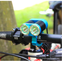 2 * CREE T6 1500lumens Reflector bicicleta lámpara de alta potencia bicicleta luz