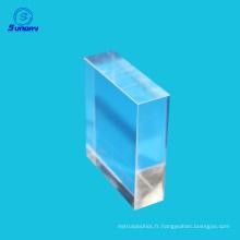 Materia optique verre saphir fusionné de silice toutes sortes de prisme