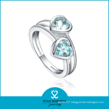 Clear Silver Crystal Finger Ring