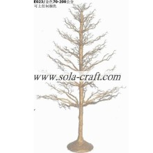 200 CM Gold Color Potted PE Plastic Kerstboom Tafel Middelpunt