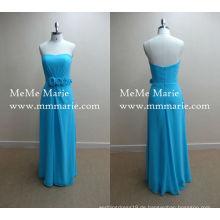 Pfau Blue Sweetheart Abendkleider Türkei Partykleid mit Chiffon BYE-14007