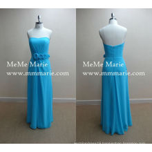 Peacock Blue Sweetheart Evening Dresses Turkey Party Dress with Chiffon BYE-14007