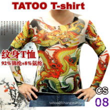 2016 new design tattoo t-shirt lace tattoo legging