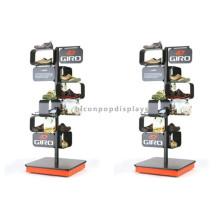 Holz-Basis-Metall-Schuhe Shop-Armaturen Display-Rack, Freistehende Herrenschuhe Sandale Display Rack