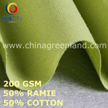 Cotton Ramie Solid Plain Fabric for Clothes Garment (GLLML453)