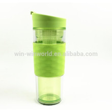 Promotion Plastic Water Bottle Vacuum Insulated Double Walled Flask,Travel Mug 360ml