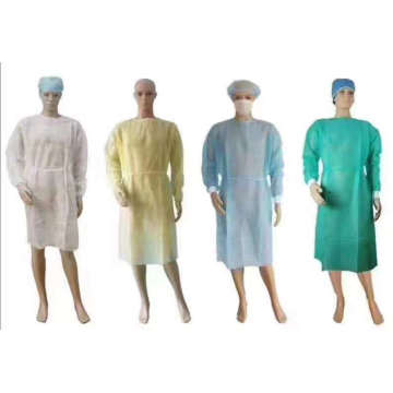 Robes d'isolement en plastique jetables de laboratoire d'hôpital