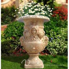 Noble Style Large Garden Marble Flowerpot