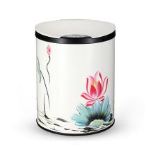 Модная цветочная мусорная корзина для отходов из нержавеющей стали (YW004)