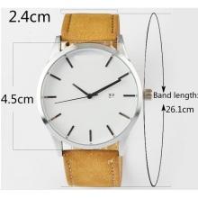 Relógio de homens de moda de pulseira de couro personalizado