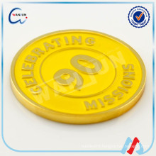 CELEBRATING 90 MISSIONS custom made metal souvenir gold coin