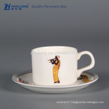 120ml Small Volume Arabic Style Ceramic Coffee Cup And Saucer, Ceramic Cup Manufacture