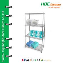 Chromed boutique display shelf medicine display shelf