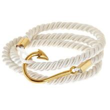 Summer fashion sailor cotton colorful friendship fish hook bracelet in stock
