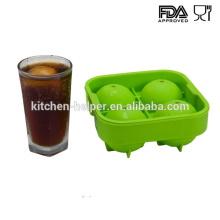 Impermeável personalizado silicone bolas de gelo fabricante de moldes para uísque