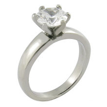 Anillo de imitación de encargo del diamante de la boda