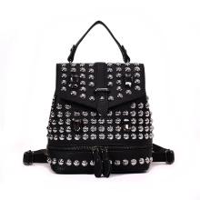backpack women pu studded leather backpack girls daypacks
