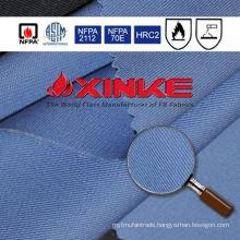 Orange flame retardant fabric for coverall