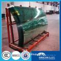 10mm de grosor, construcción de vidrio templado curva curva en China