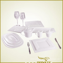 15 PCS Porcelana Blanca Set de Vajilla Serie de Perlas en relieve