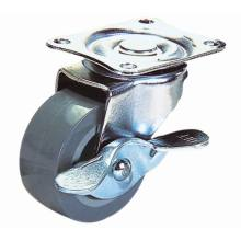 3 Inch Light Duty Swivel PU with Side Brake Caster