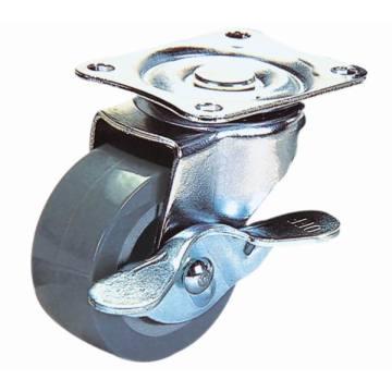 PU pivotante légère de 3 pouces avec roulette de frein latérale