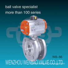 Pneumatic Actuated Italy Type Wafer Stainless Steel CF8 Ball Valve