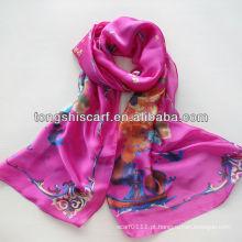 2014 novo lenço de tecido chiffon cetim oblongo