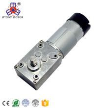 CE, RoHS aprobó motor de engranaje de gusano 20.6rpm caja de engranajes de 12V dc motor con codificador 7PPR
