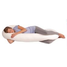 Snoogle Compact Side Sleeper Ganzkörperkissen, Schwangerschaftskissen, Weiß
