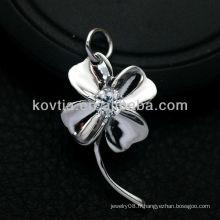 Bracelet en argent sterling 925 en forme de fleur préféré pour femme